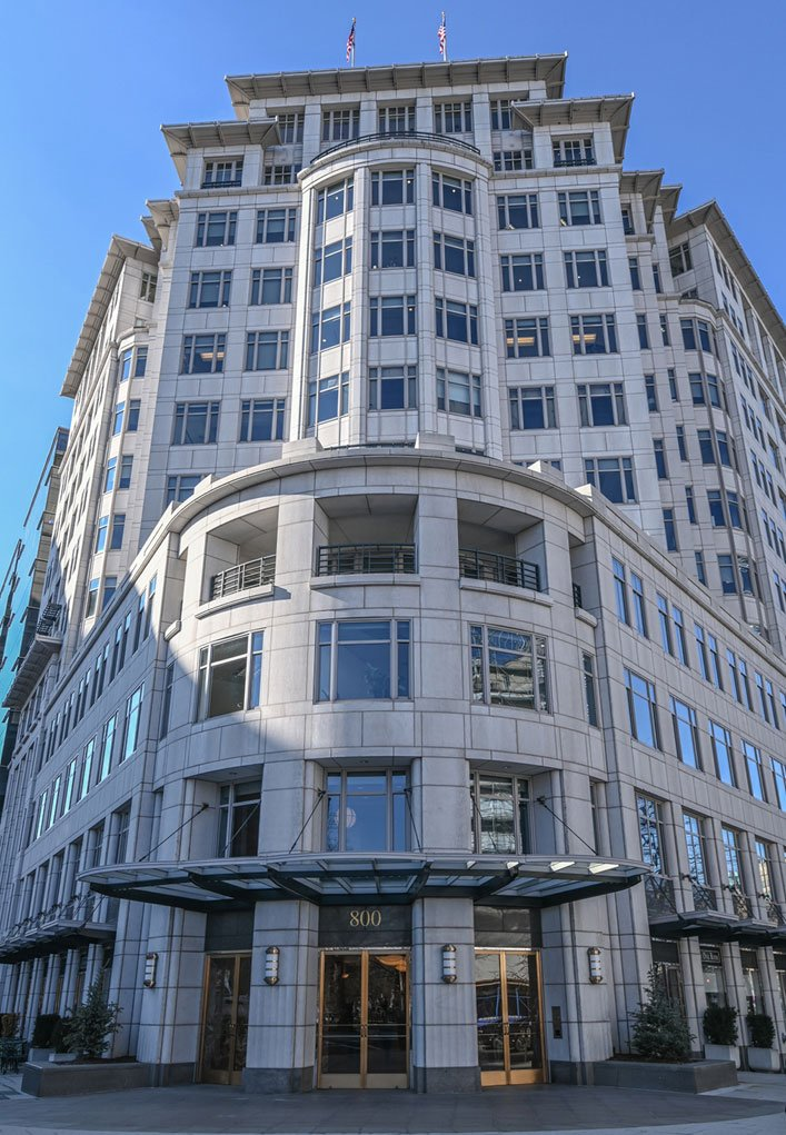 DC Virtual Office Space and Office Rental available at this Connecticut Avenue building overlooking Lafayette Park.